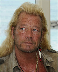 "Duane ""Dog"" Chapman appears at a press conference in Honolulu in May 2008."