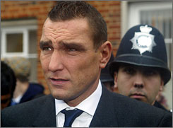 In this 2003 file photo, Vinnie Jones leavs court in west London.