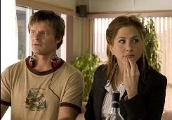 Steve Zahn and Jennifer Aniston make a not-too-steady love connection in the new comedy Management.