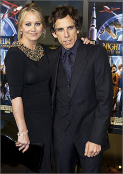 Ben Stiller, with wife Christine Taylor, said that before filming Museum, he hadn't been back to the Smithsonian complex since he was 12 or 13 years old.