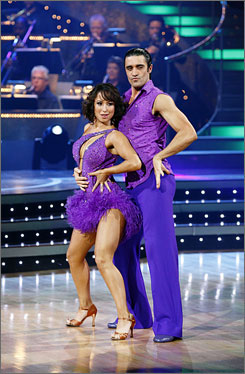 Gilles Marini with partner Cheryl Burke.