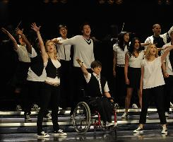 "Rehearsal: Glee, about a high school glee club, ""has to make you smile"" by hour's end, says executive director Ryan Murphy."