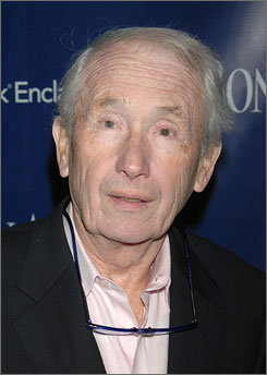 In this Oct 29, 2007 file photo, author Frank McCourt arrives at a dinner party after the screening of The Kite Runner in New York.