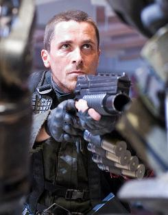 Straight shooter: Christian Bale continues the saga of John Connor, the human Resistance leader in a post-apocalyptic world, in franchise's fourth installment.