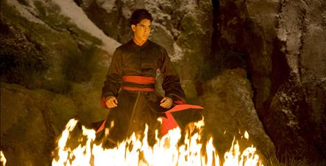 "The bad guy: Slumdog Millionaire's Dev Patel plays Zuko, a ""firebender"" who can manipulate flames."