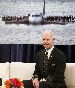 "Chesley ""Sully"" Sullenberger III appears on CBS's The Early Show in February."