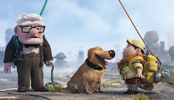  Carl the adventurer, Dug the dog and Russell are ready to go Up.