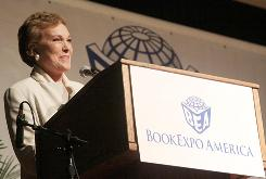 Speaking of writing ... Julie Andrews, who has written several kids' books and a memoir, was among hundreds of authors at BookExpo in New York.