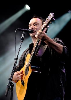 Dave Matthews performs with his band at Boston's Fenway Park on Friday. The band has 40 more summer dates.