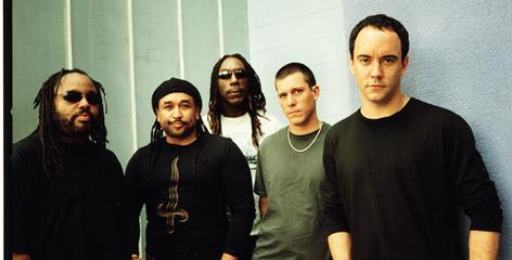 The Dave Matthews Band, from left: the late saxophonist LeRoi Moore, drummer Carter Beauford, violinist Boyd Tinsley, bassist Stefan Lessard and singer/guitarist Matthews.