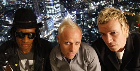 Maxim Reality, left, Keith Flint and Liam Howlett are The Prodigy.