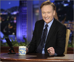 Growing more comfortable already: Conan O'Brien's second Tonight was markedly better than his first.