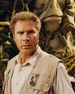 Will Ferrell stars as Rick Marshall, a discredited scientist who believes there is  and finds  a parallel universe that combines time periods.