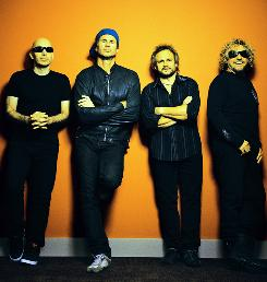 Chickenfoot is Joe Satriani, left, Chad Smith, Michael Anthony and Sammy Hagar.