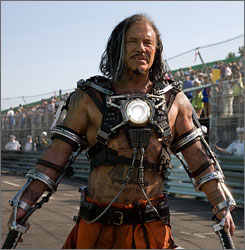 Mickey Rourke stars as Whiplash in Iron Man 2. Director Jon Favreau says he didn't wrestle long with the choice to cast the actor as the new foe.