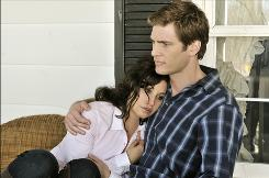 Gina Gershon and Ryan McPartlin star in Lifetime's Everything She Ever Wanted, a two-part true-crime miniseries.