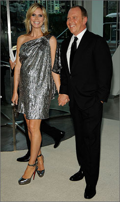 Heidi Klum and Michael Kors at the CFDA Gala