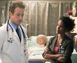 Colleagues: Nursing director Christina Hawthorne (Jada Pinkett Smith) clashes with the chief of surgery (Michael Vartan) and other hospital staff members.