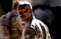 Musician and former model Tyrese Gibson reprises his role as an Air Force sergeant in Transformers: Revenge of the Fallen.
