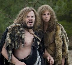 Zed (Jack Black, left) and Oh (Michael Cera) are tribe outsiders who leave their village and encounter a number of biblical figures.