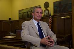 John Grisham returns to the DeSoto County Courthouse in Hernando, Miss., where he tried cases for 10 years. It's been 20 years since Grisham published his first novel, A Time to Kill. An anniversary edition is coming out Tuesday .