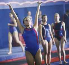 Stick the landing: Cassie Scerbo plays a ruthless, driven gymnast in ABC Family's new drama Make It or Break It.
