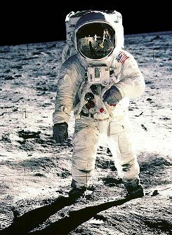 Picture it, July 20, 1969: A photo of Buzz Aldrin on the surface of the Moon as taken by fellow astronaut and the first man on the noon, Neil Armstrong.