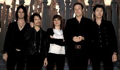 The Event is on the horizon: Noah Harmon, left, Daren Taylor, Anna Bulbrook, Mikel Jollett and Steven Chen of Airborne Toxic Event. Their self-titled album has sold more than 100,000 copies since August.