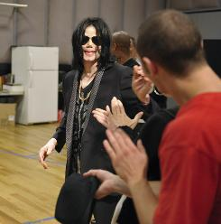 L.A. rehearsal, May 6: Michael Jackson at CenterStaging in Burbank, Calif., where he worked on his upcoming shows. Those involved with the production say that in rehearsals, Jackson resembled the King of Pop they remembered from the past.