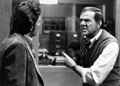 Karl Malden, right, and Michael Douglas starred in the 1970s ABC police drama The Streets of San Francisco. It was one of many memorable roles in Malden's long career.