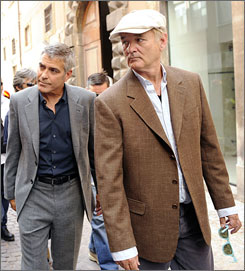 George Clooney and Bill Murray tour an area hit by an earthquake in Italy.