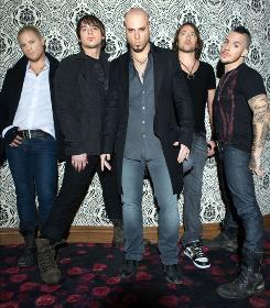 Walking tall: Joey Barnes, left, Brian Craddock, Chris Daughtry, Josh Steely and Josh Paul.