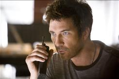 Dylan McDermott lets it bleed as tortured hero Carter Shaw.