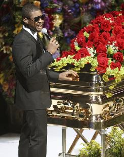 Usher Raymond, performing at the Michael Jackson public memorial service, is following in his idol's philanthropic footsteps.