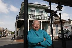 Retired music engineer Cosimo Matassa, a man of modest means and modest demeanor, stands outside the family's French Quarter grocery store. Matassa worked with Fats Domino, Ray Charles and many others.