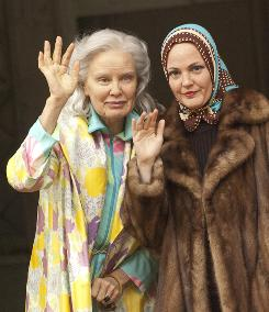 """Down and out in the Hamptons: Jessica Lange and Drew Barrymore as """"Big Edie"""" and """"Little Edie"""" in HBO's Grey Gardens."""