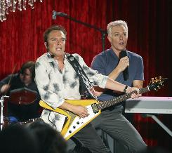 Brothers for real: David Cassidy, left, and Patrick Cassidy star as musical siblings in ABC Family's new comedy.
