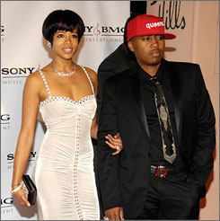 In happier times: Kelis and Nas at the 2008 Sony BMG Grammy afterparty in Beverly Hills, Calif.