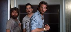 Zach Galifianakis, left, Ed Helms and Bradley Cooper wake up with a wee problem in The Hangover. But the R-rated comedy itself has been a boost to their careers.