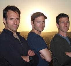 Roger Carstens, left, Adam Ciralsky and Scott Tyler from NBC's The Wanted.