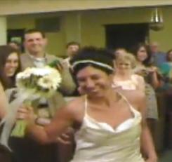 An influential Internet sensation: Bride Jill Peterson, groom Kevin Heinz and the rest of their wedding party danced down the aisle to Chris Brown's Forever when they were married in St. Paul on June 20. The YouTube video of their wedding has since been viewed more than 10 million times.