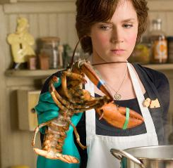 Adams plays Julie Powell, who cooks her way through Julia Child's Mastering the Art of French Cooking and blogs about it. Adams had to master the art of temper tantrums, too, caused by catastrophes in the kitchen.