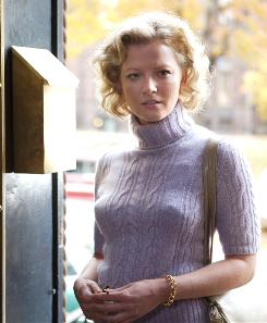 Relationship instability: Catherine (Gretchen Mol) does her patriotic duty  with President Kennedy  in An American Affair.