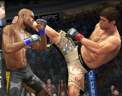 Fighting for legitimacy: Mixed martial arts has now hit Xbox 360 and PS3 in UFC 2009 Undisputed, as well as prime-time TV.