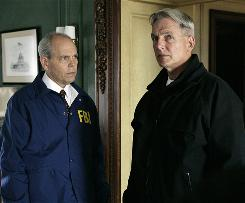 NCIS, which stars Mark Harmon, right, is getting record ratings six years into its run. At left is guest-star Joe Spano.