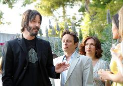 Chris Kattan, center, stars as the aspiring Bollywood hero in the IFC Channel comedy/musical. Keanu Reeves, left, and Maya Rudolph guest-star.