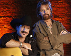 Kix Brooks, left, and Ronnie Dunn have decided to end their musical partnership after 20 years together.