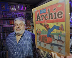 Archie comics have lost their allure for comic book store owner Dave Luebke, who is disappointed the character went for rich girl Veronica over nice girl Betty. He's selling his rare first issue comic.