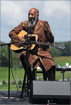 Richie Havens performed Freedom, 40 years later, on the original Woodstock site.