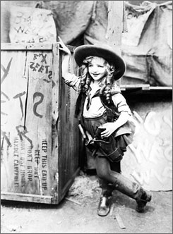 Virginia Davis is seen in a 1924 publicity shot for Alice?s Wild West Show.
